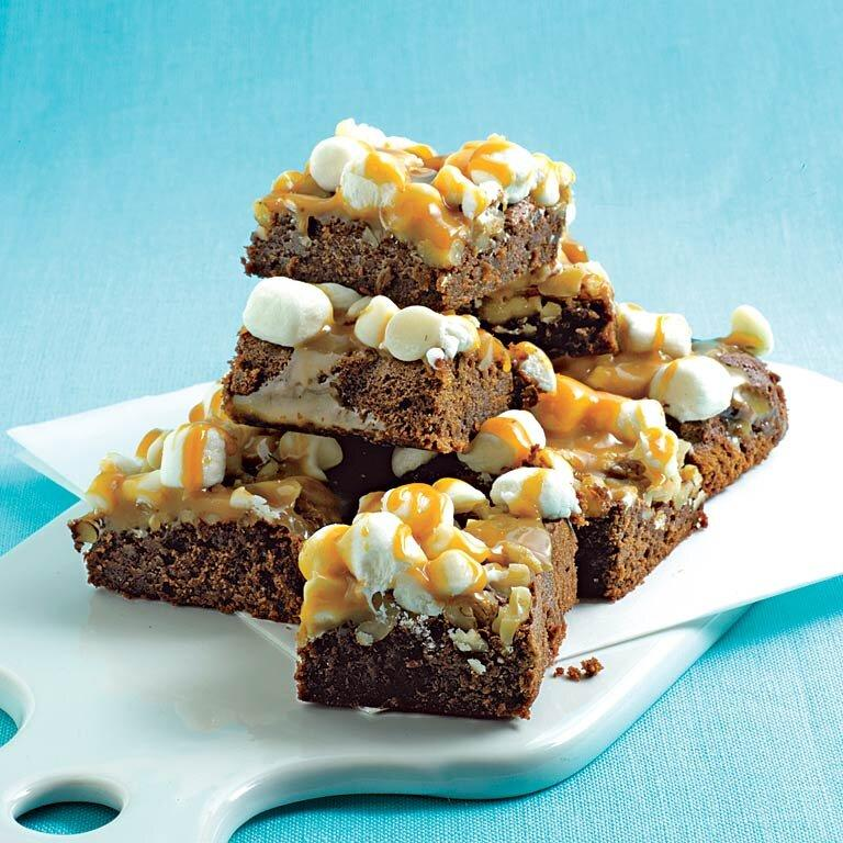 "<p>Sweet and gooey cookie bars are incredibly easy to make and pretty to serve. These <a href=""https://www.myrecipes.com/t/cookies/brownies/"">brownies</a> are sure to be a hit at any gathering, from birthday parties to baby showers, or as an after-dinner treat for your family. </p><p><a href=""https://www.myrecipes.com/recipe/caramel-marshmallow-brownies"">Caramel-Marshmallow Brownies Recipe</a></p>"