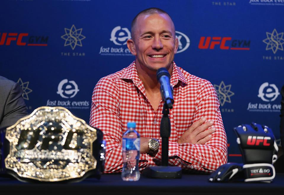 Georges St-Pierre will be inducted into the UFC Hall of Fame later this year. (Don Arnold/WireImage)