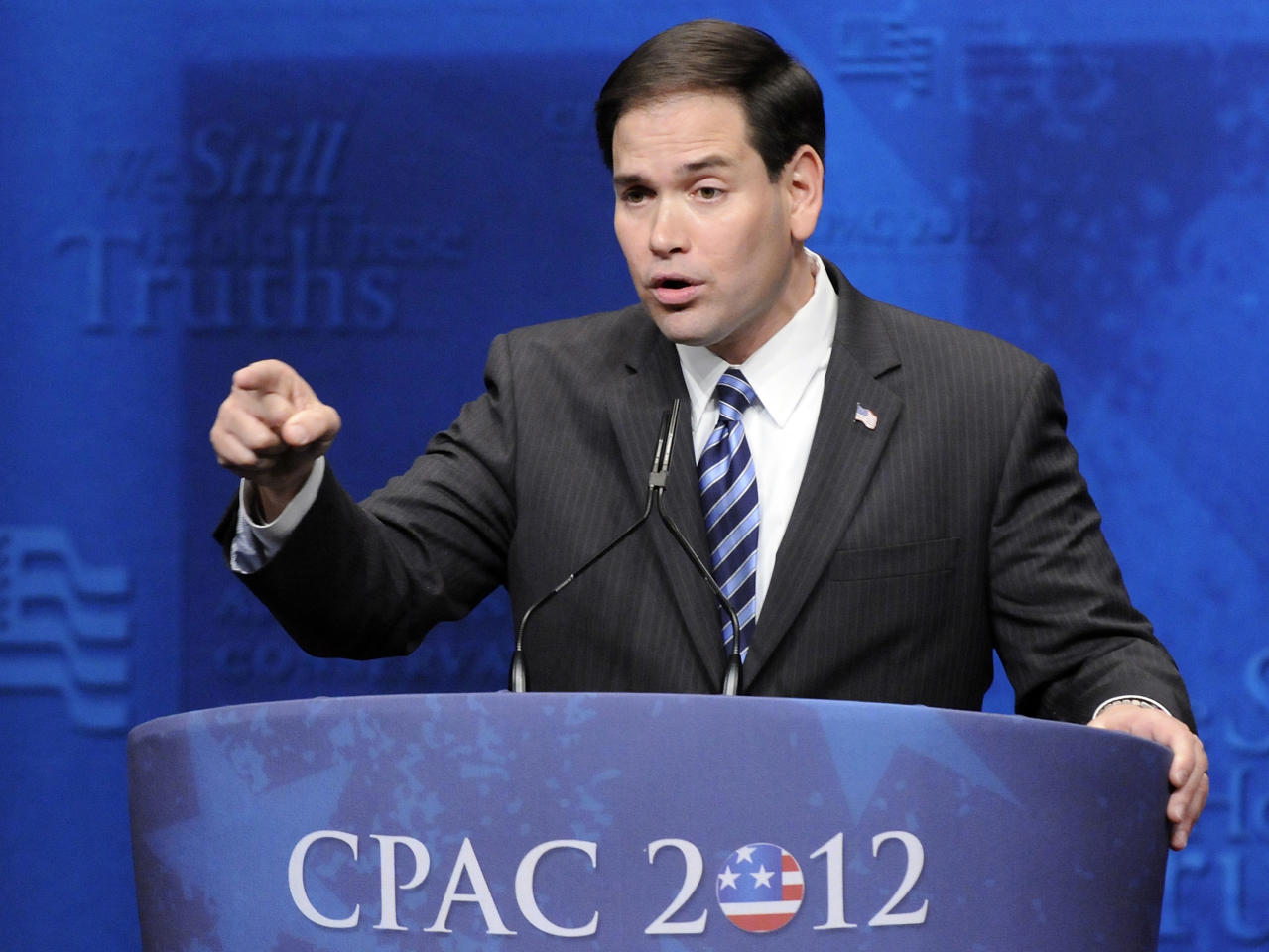 U.S. Senator Marco Rubio (R-FL) addresses the American Conservative Union's annual Conservative Political Action Conference (CPAC) in Washington, February 9, 2012.  REUTERS/Jonathan Ernst