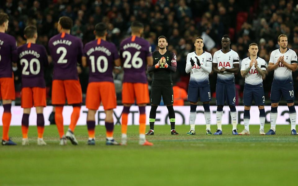 The Manchester City and Tottenham Hotspur starting XIs line-up ahead on Monday night's match - Tottenham Hotspur FC