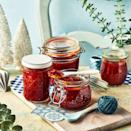"""<p>The perfect accompaniment to any cheese board. Try spreading a little on your cheese toastie or stirring into sauces and stews. Adjust the chilli to suit your heat tolerance.</p><p><strong>Recipe:<a href=""""https://www.goodhousekeeping.com/uk/christmas/christmas-recipes/a37820564/sticky-tomato-jam/"""" rel=""""nofollow noopener"""" target=""""_blank"""" data-ylk=""""slk:Sticky Tomato Jam Recipe"""" class=""""link rapid-noclick-resp""""> Sticky Tomato Jam Recipe</a></strong></p>"""