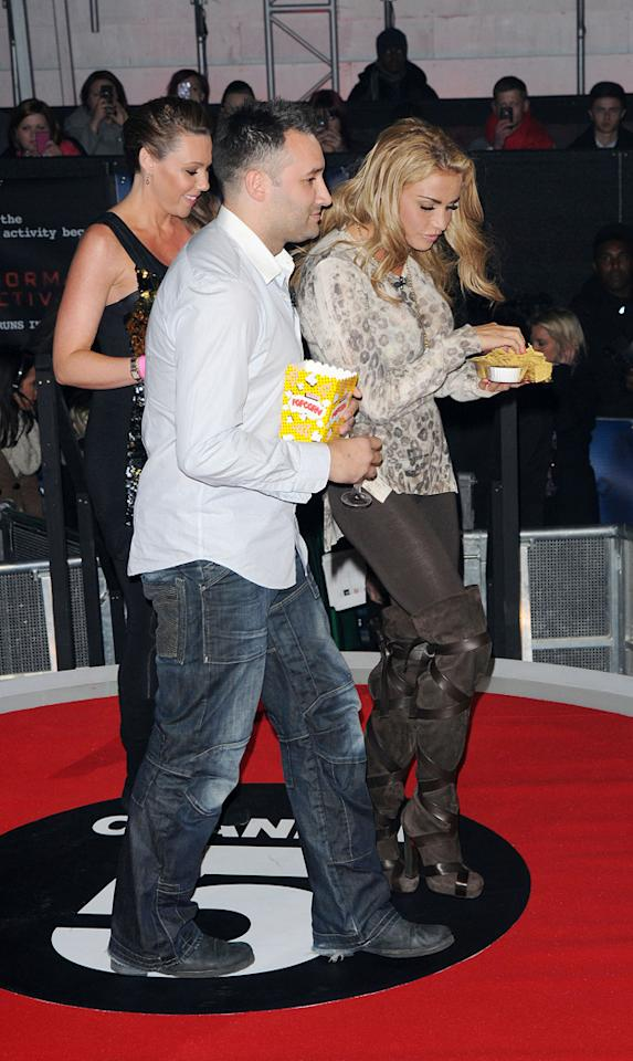 Did Katie Price and Dane Bowers reminisce about old times over popcorn and nachos?