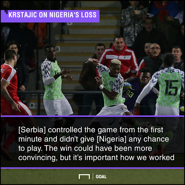 The Europeans got a deserved victory over the Super Eagles after suffering loss in their first preparatory tie against Morocco