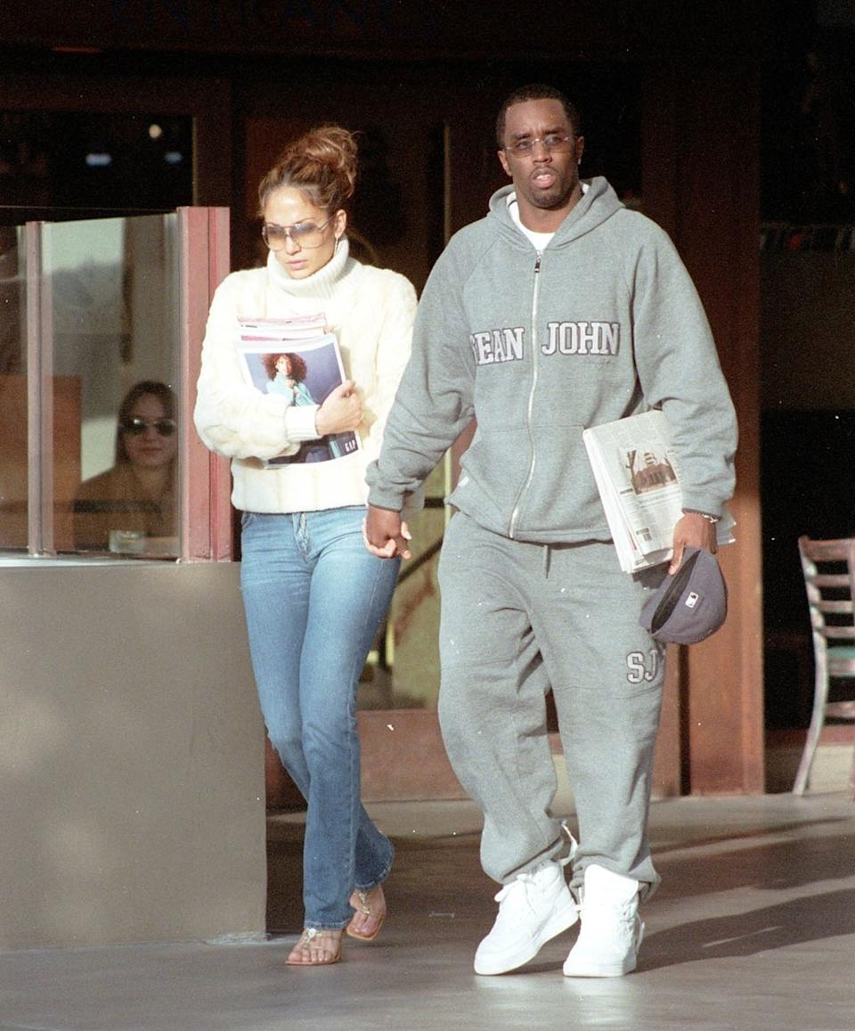 Diddy posted this throwback photo of himself with Jennifer Lopez from Dec. 14, 2000. (Photo: Backgrid)