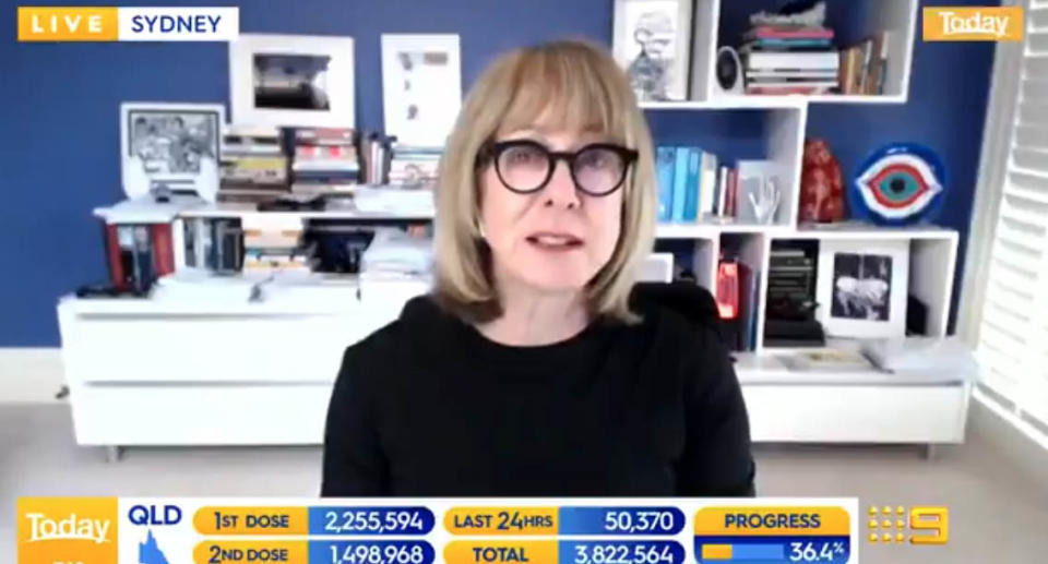 Professor Mary-Louise Mclaws warns Victoria's COVID-19 cases haven't peaked yet and the state could reach up to 1000 daily infections by the end of the month. Source: The Today Show