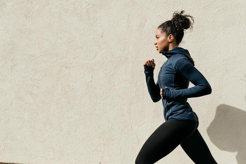 Pictured: Woman exercising to work through mental health issues. Image: Getty