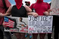 Protesters rally after the death of George Floyd in Austin, Texas