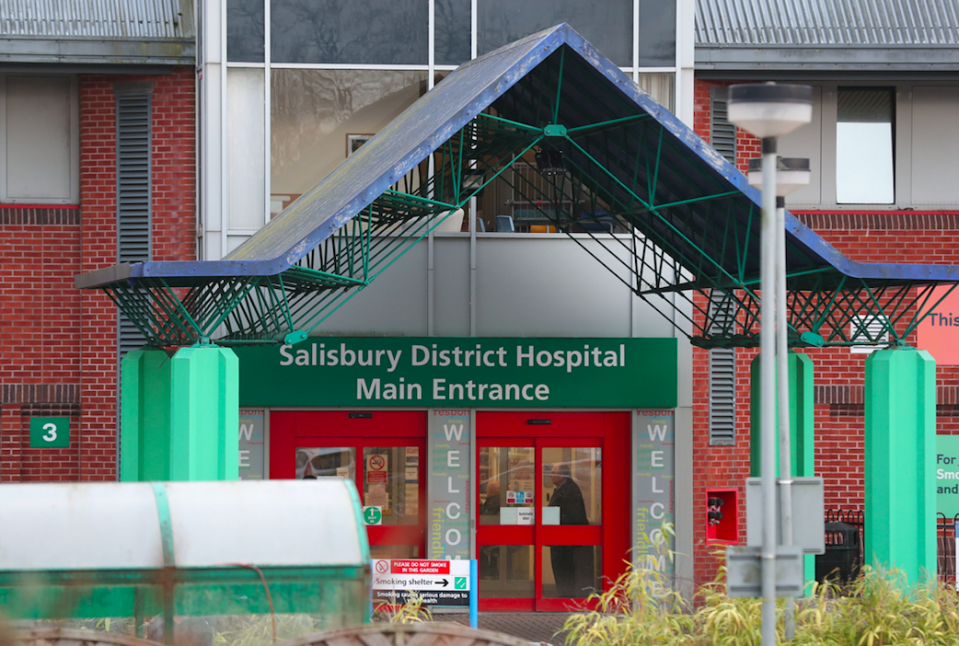 <em>The pair, named locally as mother Dawn Sturgess and Charlie Rowley, are in a critical condition at Salisbury District Hospital (PA)</em>