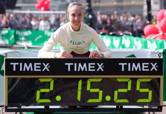 Paula Radcliffe improved her own world record in 2003 (Rebecca Naden/PA)