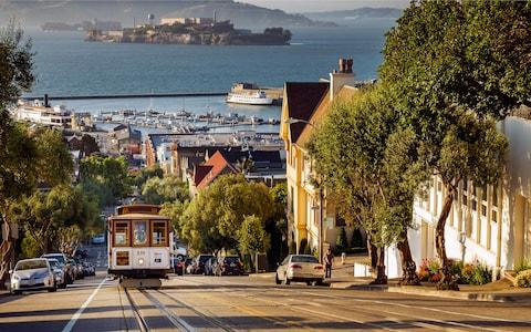 The famous trams of San Francisco - Credit: getty