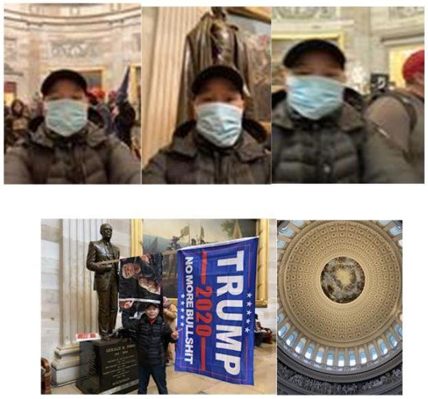 Tam Dinh Pham took these photos after storming the Capitol, the feds say. (Photo: JTTF)