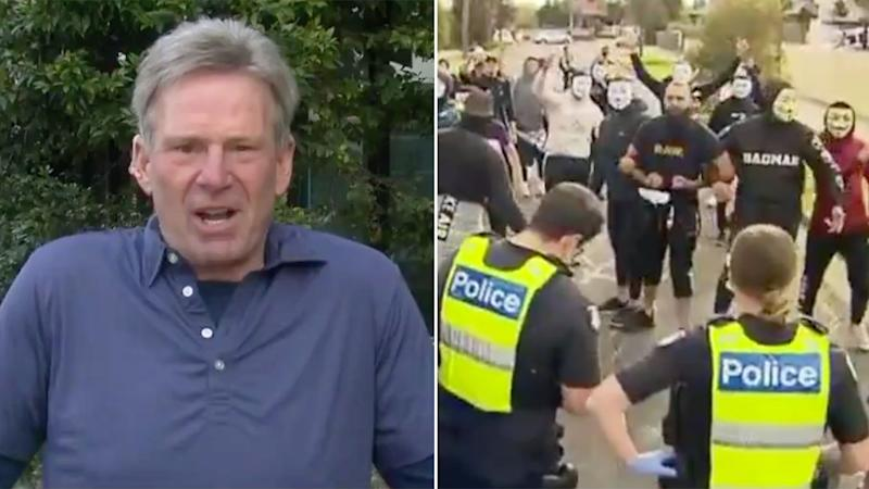 Sam Newman denied trying to incite mass Melbourne protests while appearing on Channel 7's Sunrise program.