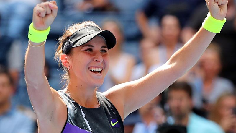 Belinda Bencic, pictured here after her win at the US Open.