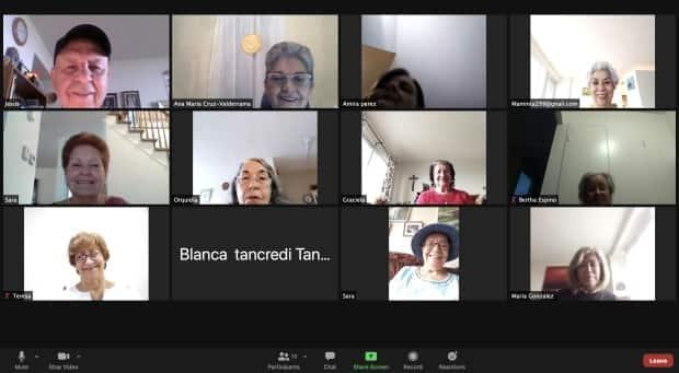 Last fall, through an initiative called the Honeycomb Project, Cruz-Valderrama was able to provide the group with tablets so the seniors could continue their sessions via Zoom.