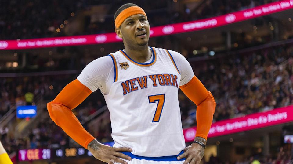 Carmelo Anthony was traded to New York in 2011. (AP)