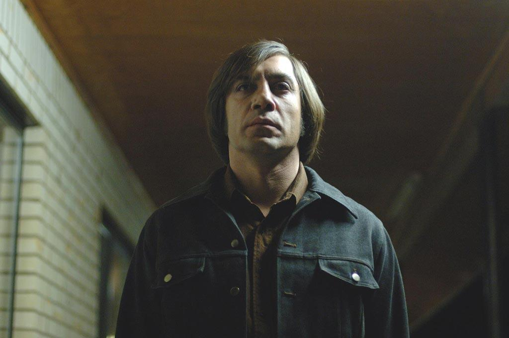 """<a href=""""http://movies.yahoo.com/movie/1809701422/info"""">NO COUNTRY FOR OLD MEN</a> (2007)  The Coen Brothers' movie won four Oscars, including Best Picture in 2008. Spanish actor Javier Bardem also took home an Oscar for his chilling portrayal of the killer Anton Chigurh in this adaptation of Cormac McCarthy's novel.   <a href=""""http://www.hollywoodreporter.com/gallery/unforgettable-oscar-speeches-101596"""" target=""""_blank"""">PHOTOS: Most Unforgettable Oscar Speeches</a>"""