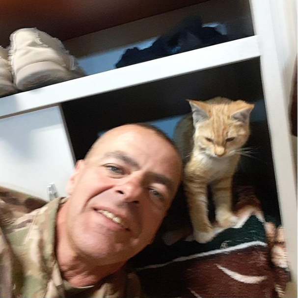 Dan Brissey and his pal Sully in Kabul, Afghanistan.