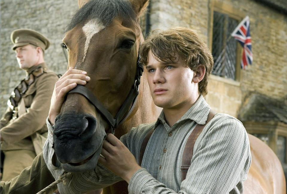 "<p>During WW I, Albert's dad decides to sell his horse, Joey, to the British cavalry. But the bond between Albert and Joey cannot be broken, as Albert searches the battlefields of France to get Joey back home.</p> <p><a href=""http://www.netflix.com/title/70172928"" class=""link rapid-noclick-resp"" rel=""nofollow noopener"" target=""_blank"" data-ylk=""slk:Watch War Horse on Netflix now."">Watch <strong>War Horse</strong> on Netflix now.</a></p>"