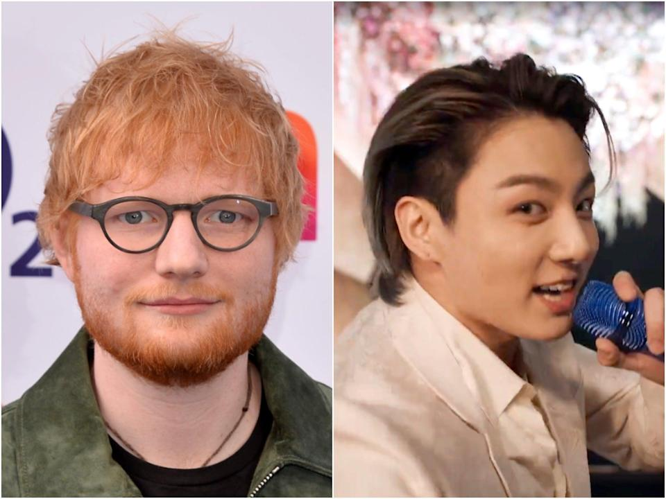 Ed Sheeran and BTS have previously collaborated on the hit single 'Make It Right' (Getty)