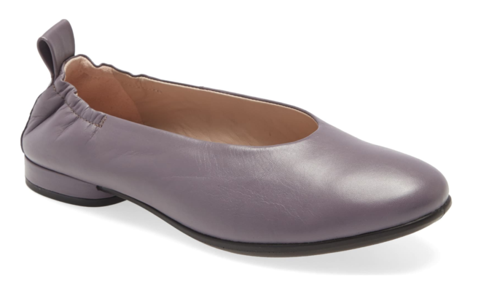 ECCO Anine Ballet Flat in Dusk Leather
