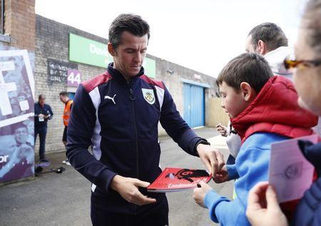 Britain Football Soccer - Burnley v Manchester United - Premier League - Turf Moor - 23/4/17 Burnley's Joey Barton signs his autograph for fans as he arrives Action Images via Reuters / Jason Cairnduff Livepic