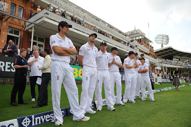 <p>A disappointing summer in 2012 saw England lose to South Africa and star player Kevin Pietersen fall out with skipper Strauss. The captain retired after the series and Cook was named as his successor (Getty Images) </p>