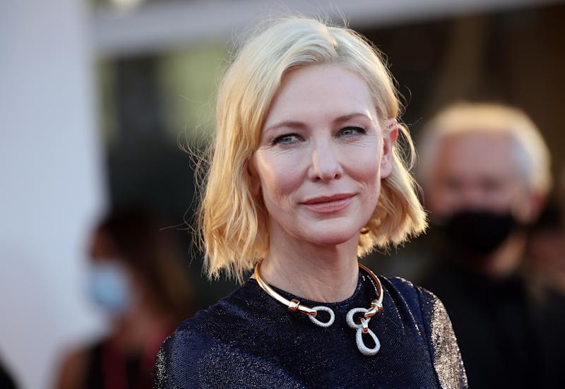 "VENICE, ITALY - SEPTEMBER 02: Jury President Cate Blanchett walks the red carpet ahead of the Opening Ceremony and the ""Lacci"" red carpet during the 77th Venice Film Festival at on September 02, 2020 in Venice, Italy. (Photo by Elisabetta A. Villa/WireImage,)"