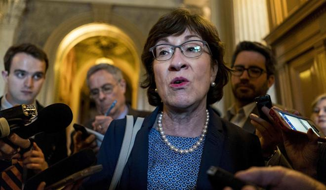 Susan Collins, a Republican representing Maine, and Kristen Gillibrand, a New York state Democrat, were among the four senators who co-sponsored the Hong Kong Human Rights and Democracy Act of 2019 on Monday. Photo: Washington Post
