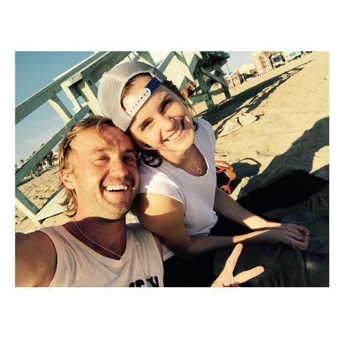 """<p>These two just love a day at the beach. In November 2018, Watson shared this cute picture<a href=""""https://www.elle.com/uk/life-and-culture/a24875420/emma-watson-tom-felton-skateboarding-instagram-video/"""" rel=""""nofollow noopener"""" target=""""_blank"""" data-ylk=""""slk:and a video of the two of them skate boarding."""" class=""""link rapid-noclick-resp""""> and a video of the two of them skate boarding.</a></p><p><a href=""""https://www.instagram.com/p/Bp7HNl7ARup/"""" rel=""""nofollow noopener"""" target=""""_blank"""" data-ylk=""""slk:See the original post on Instagram"""" class=""""link rapid-noclick-resp"""">See the original post on Instagram</a></p>"""