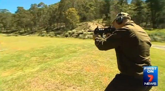 Testing the weapon 150km west of Sydney. Source: 7 News