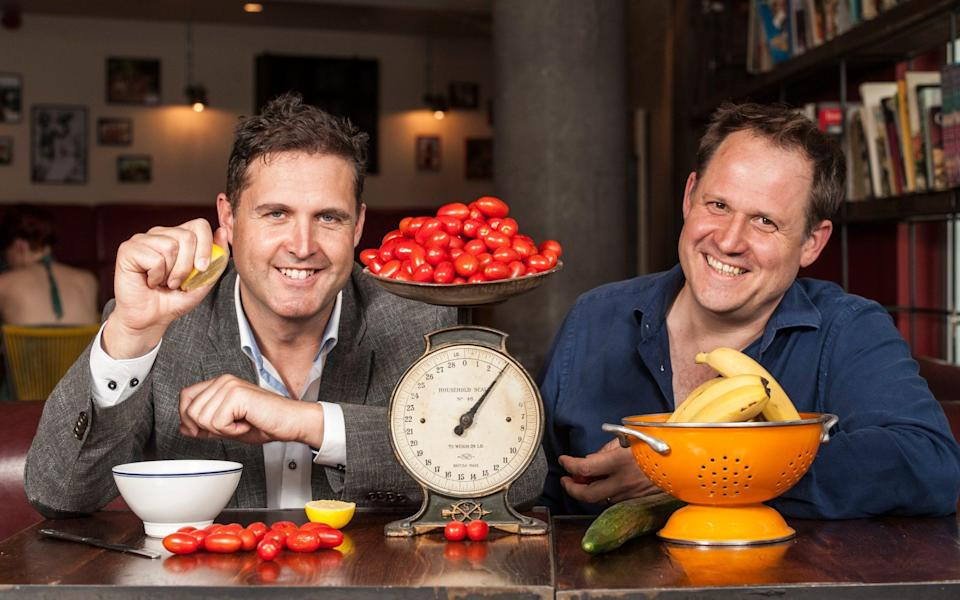 Henry Dimbleby, left, and John Vincent, co-founders of LEON restaurant chain
