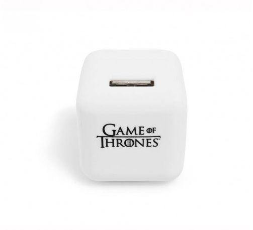 """""""A fight for a throne is merely a fight for power. You need not fight for power, you can easily access it <a href=""""http://store.hbo.com/game-of-thrones-usb-wall-charger/detail.php?p=443835&v=hbo_shows_game-of-thrones&pagemax=all"""" target=""""_blank"""">with the Game of Thrones USB Wall Charger</a>."""""""