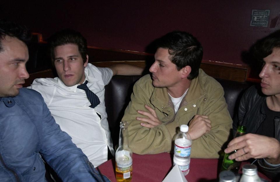 """<p>Brendan Williams and Simon Rex during Play Station 2 presents """"The Streets"""" at The Viper Room in West Hollywood, California on March 12, 2003.</p>"""