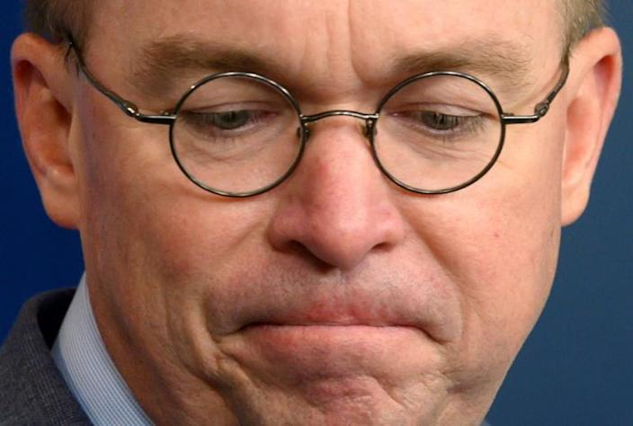 White House Acting Chief of Staff Mick Mulvaney may also be compelled to testify in the impeachment probe (AFP Photo/JIM WATSON)