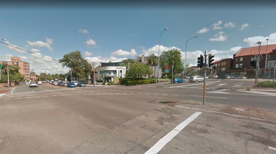 Emergency services were called to the intersection of Moore Park Road and Queen Street on Tuesday morning. Source: Google Street View