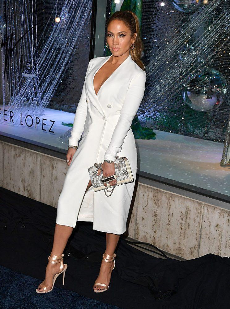 Jennifer Lopez at the launch of the Giuseppe for Jennifer Lopez shoe collection (Photo: Getty Images)