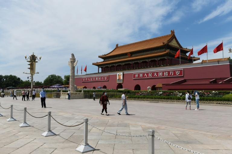 The Asia and Pacific region recorded an 84 percent drop in arrivals in 2020. The picture shows Beijing's Tiananmen Square last May