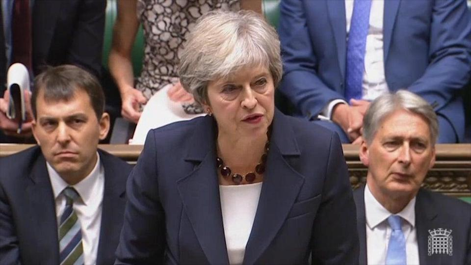Theresa May informing MPsthat the suspects are Russian spies on 5 September