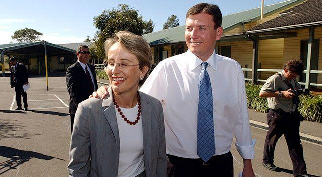 Lucinda and John Brogden during the NSW State election in 2003. Source: AAP