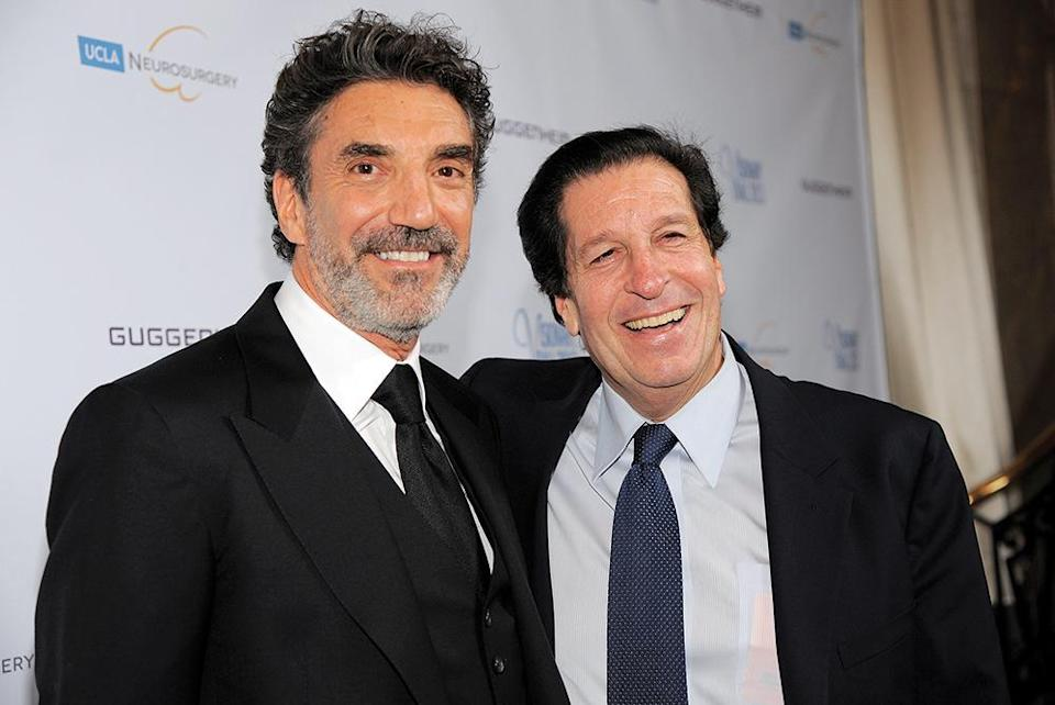 """Chuck Lorre (left) worked with Peter Roth on such WBTV-produced series as """"Two and a Half Men"""" and  """"The Big Bang Theory."""" - Credit: Chris Pizzello/Invision/AP"""