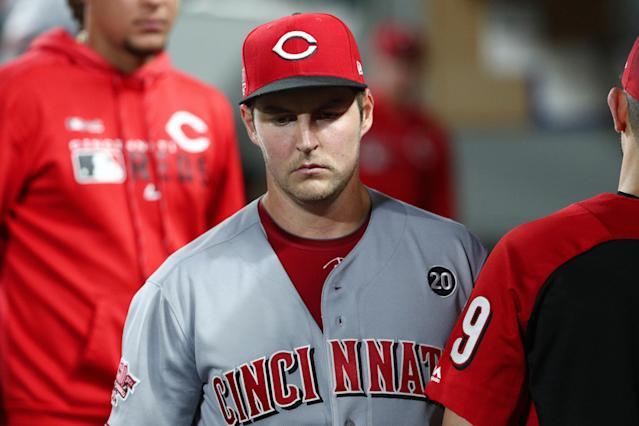 """<a class=""""link rapid-noclick-resp"""" href=""""/mlb/players/9122/"""" data-ylk=""""slk:Trevor Bauer"""">Trevor Bauer</a> launched a personal attack at MLB commissioner Rob Manfred in response to a reported playoff proposal. (Photo by Abbie Parr/Getty Images)"""