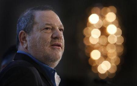 FILE PHOTO - Harvey Weinstein speaks at the UBS 40th Annual Global Media and Communications Conference in New York