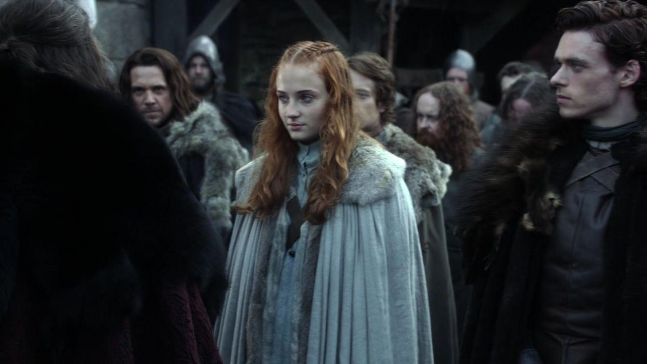 <p>When we first meet Sansa Stark, she's dressed in blues and furs-a classic Northern lady, which is exactly what she was.</p>