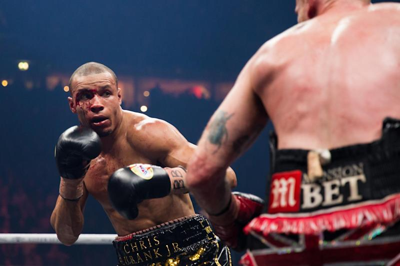 Challenger: Eubank Jr will step back into the ring on Saturday (Action Plus via Getty Images)