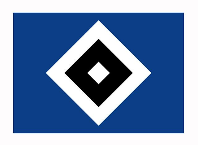 "<p>HSV's logo is an outlier in a few respects. The colors don't reflect the city's or the mostly white-and-red kit (the team's nickname is ""Rothosen""—red shorts) but rather those of SC Germania, one of the original clubs that evolved into present-day HSV. There are no initials or words. And it's square. That's quite rare. Flags are a common motif in German club badges, and it's thought that HSV's evokes the Blue Peter flag that signals that a docked ship is set to depart. Hamburg is the third-busiest port in Europe.</p>"