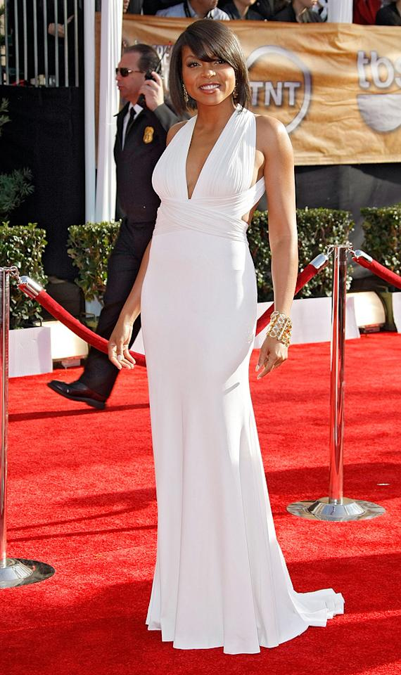 """BEST: <a href=""""http://movies.yahoo.com/movie/contributor/1804514499"""">Taraji P. Henson</a> at the 15th Annual Screen Actors Guild Awards in Los Angeles - 01/25/2009"""