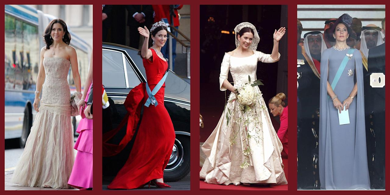 <p>Never one to shy away from bright colors, dazzling jewels, or luxurious furs, Crown Princess Mary of Denmark knows how to turn heads. Starting from her 2004 wedding to Prince Frederik, Mary has truly been dressing the part of the future Queen. Read on to check out some of her most grand fashion moments.  </p>