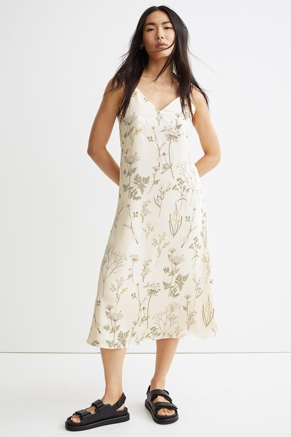 <p>This <span>V-neck Satin Dress</span> ($27, originally $30) oozes femininity and elegance, which makes it ideal for a chic date or a solo museum day.</p>