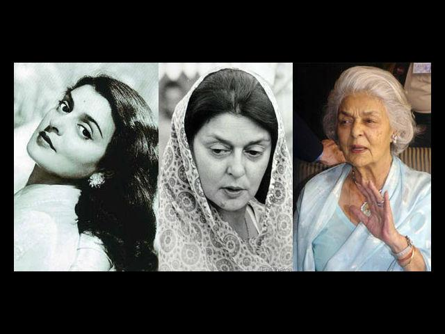 2. Rajmata Gayatri Devi The last Rajmata of Jaipur showed the world what it meant to age gracefully. She loved her chiffons, her pearl drops and her diamonds. She was a great supporter of minimalistic make up. She made numerous public appearances with just the slightest traces of Kohl and a minimized bindi on her forehead. Even her wedding trousseau was simplistic – a brocade Banarasi with delicate jewellery and a resplendent personality.