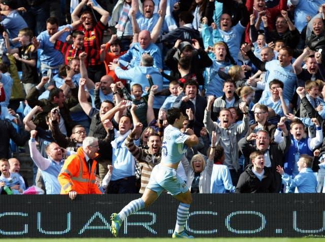 Sergio Aguero famously clinched the title with a last-gasp winner against QPR in 2012